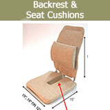 Backrest & Seat Solutions, Back Wedge Pillow, Seat Support Cushions