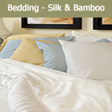 Bedding Silk & Bamboo Sheet Set, Comforter, Duvet Cover, Pillowcase
