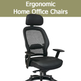 Ergonomic Home Office Chairs, Executive Leather Mesh Managers