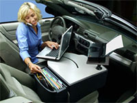 Autoexec Car Desk Roadmaster With Printer Stand