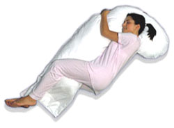 Snoozer Full Body Pillow with Heavenly Down Synthetic Microfiber