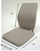 Back Support Memory Foam Car Seat Cushion - Sacro Ease BRSCM-CF