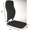 Tall Back Rest and Seat Cushion Sacro Ease BRSCMCF 24/18