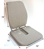 Tailbone Seat Back Rest Cushion w/ Memory Foam - Sacro Ease Trimet RX CF