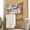 Scrolled Metal Quilt and Magazine Rack