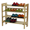 Stackable Shoe Rack, 4-Tier