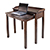 Kendall Laptop Desk & Stand, Winsome Wood Laptop Cart 94235