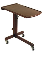 Mobile Laptop Desk & Stand, Rolling Laptop Table, Portable Laptop Cart