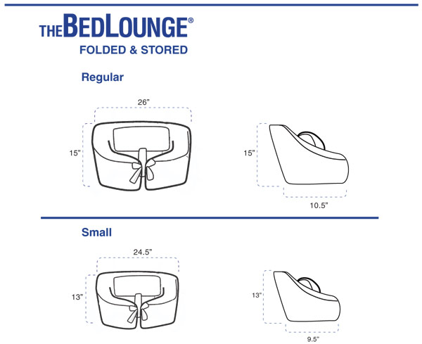 BedLounge Reading Pillow - Folded Petite Bedlounge Dimensions