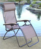 Faulkner Zero Gravity Recliner - XLarge Chocolate Mesh w/Wood Arms