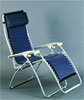 Faulkner Navy Padded Deck & Patio Folding Recliner