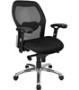 Super Mesh Chair With Mesh Back, Knee Tilt Control And Fabric Seat