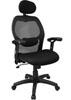 Super Mesh Chair With Headrest - Mesh Back - Mesh Fabric Seat