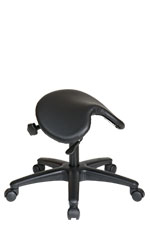 Backless Saddle Seat Drafting Stool W Adjustable Seat