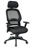 Office Star Space Chair 25004 - Mesh Managers Chair with Headrest