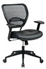 Office Star Space Chair 5700 - Mesh Back Managers Chair with Leather Seat