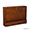 Wall-Mount Laptop Desk - Brown Mahogany