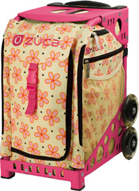 Zuca Flowerz Bag with Frame Flashing Wheelset