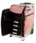 Zuca Pro Artist Case - Dusty Rose/Silver