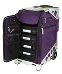 Zuca Pro Artist Case - Royal Purple/Silver