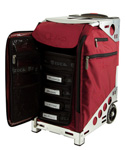Zuca Pro Artist Case - Ruby Red/Silver